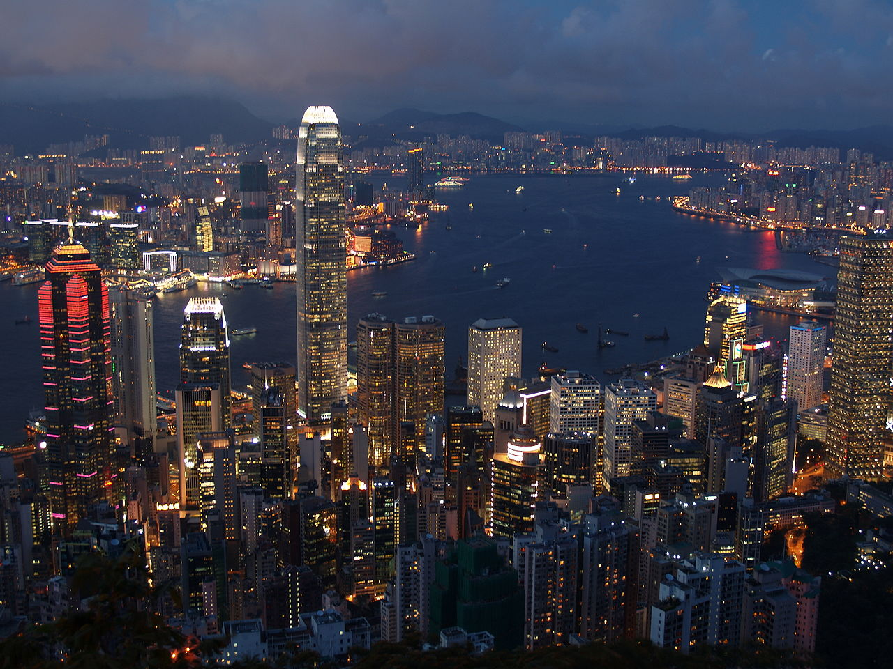Hongkong Evening Skyline