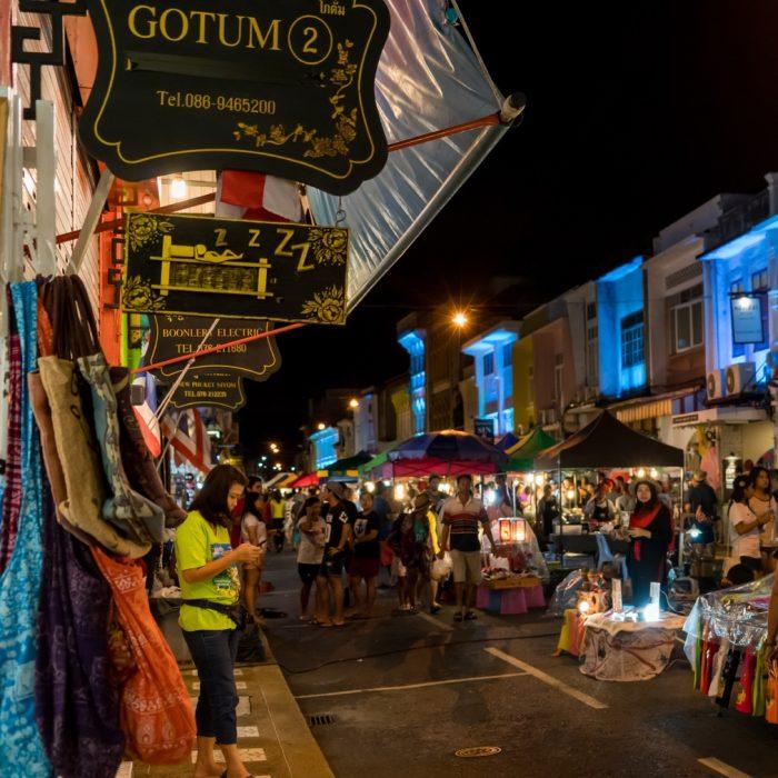 Outdoor Road Street Night in Phuket
