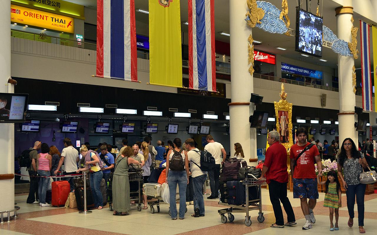 Tourists in Phuket Airport