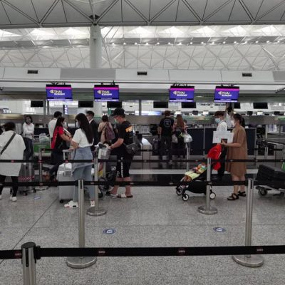 216 Thai Nationals Return Home from Hong Kong