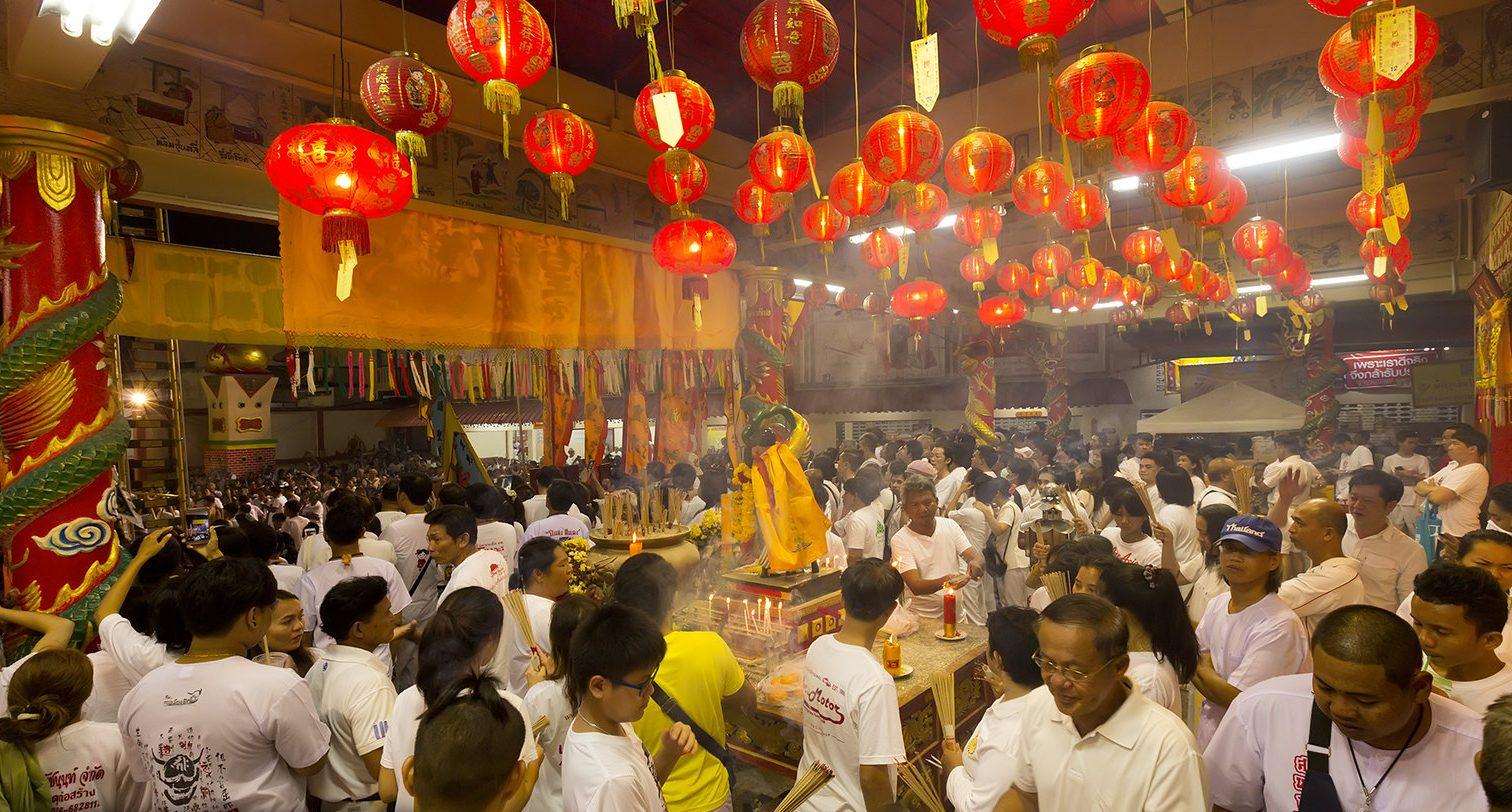 Night at vegetarian festival