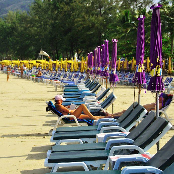 Sun Chairs, Patong Beach