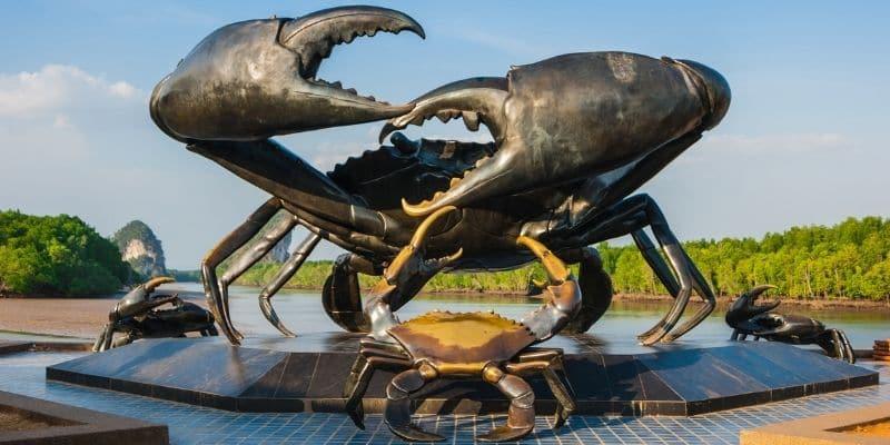 giant crab statue krabi