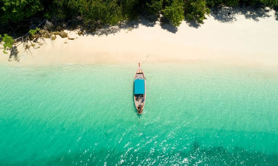 Aerial view from Andaman beach