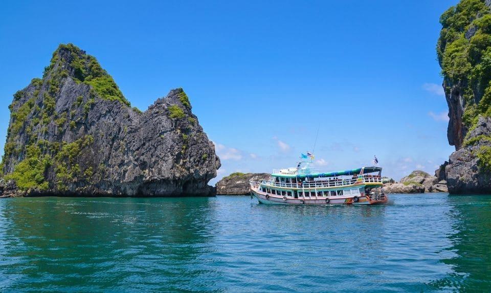 tourist boat in andaman sea