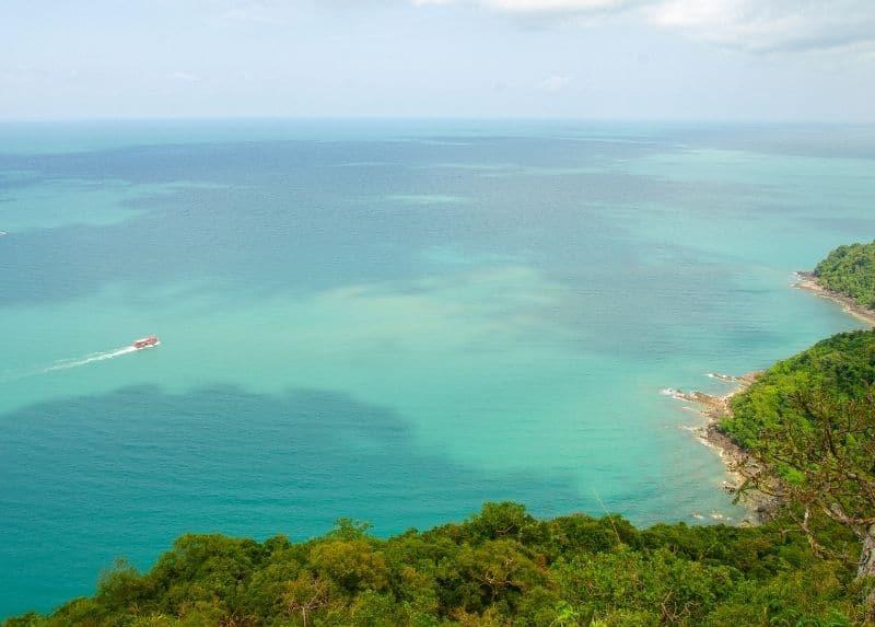 Top view of Mu Koh Ang Thong National Marine Park