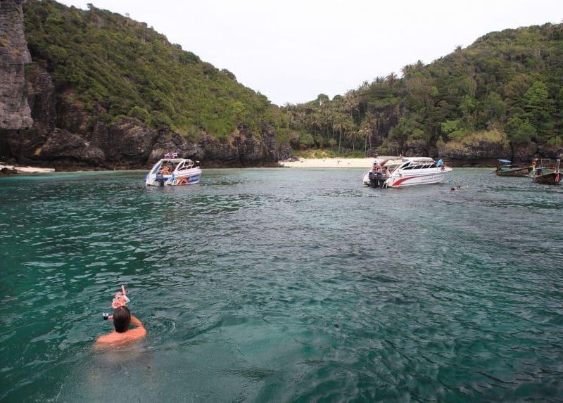 swimming in phiphi islands