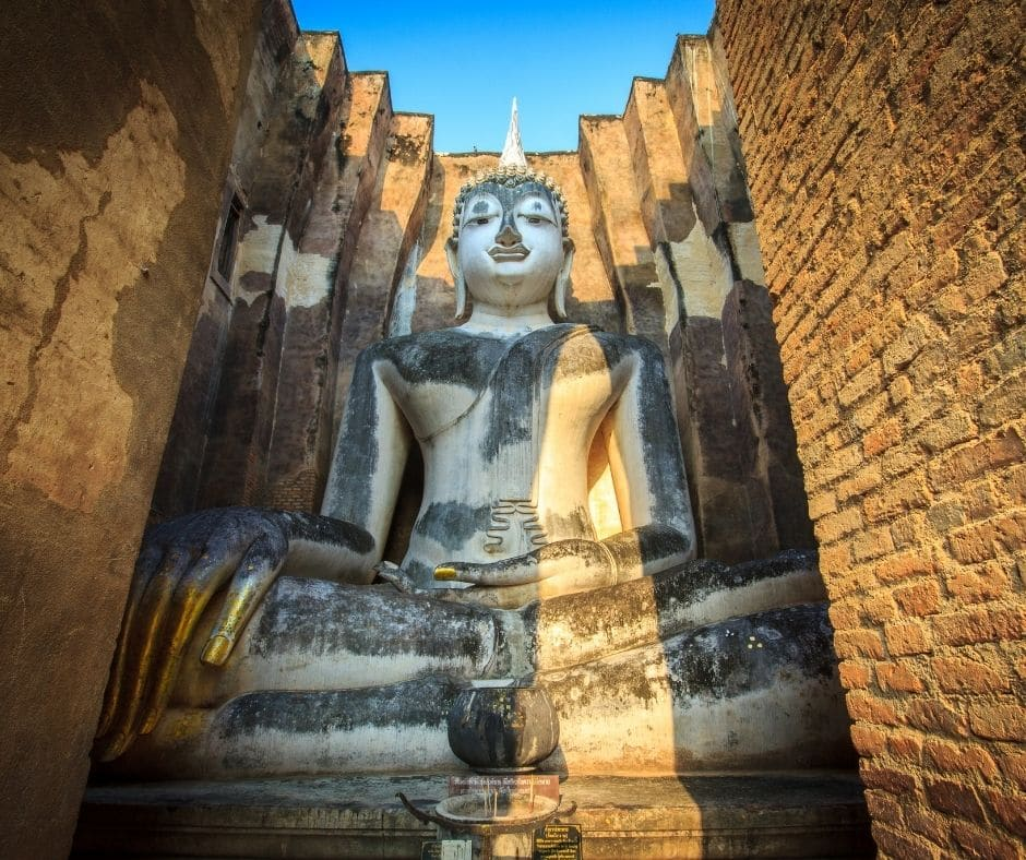 Ancient Buddha statue at Sukhothai Historical Park