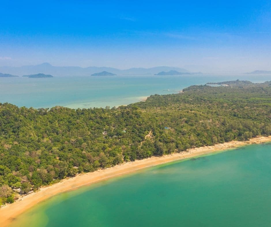Aerial photography above Heaven Beach