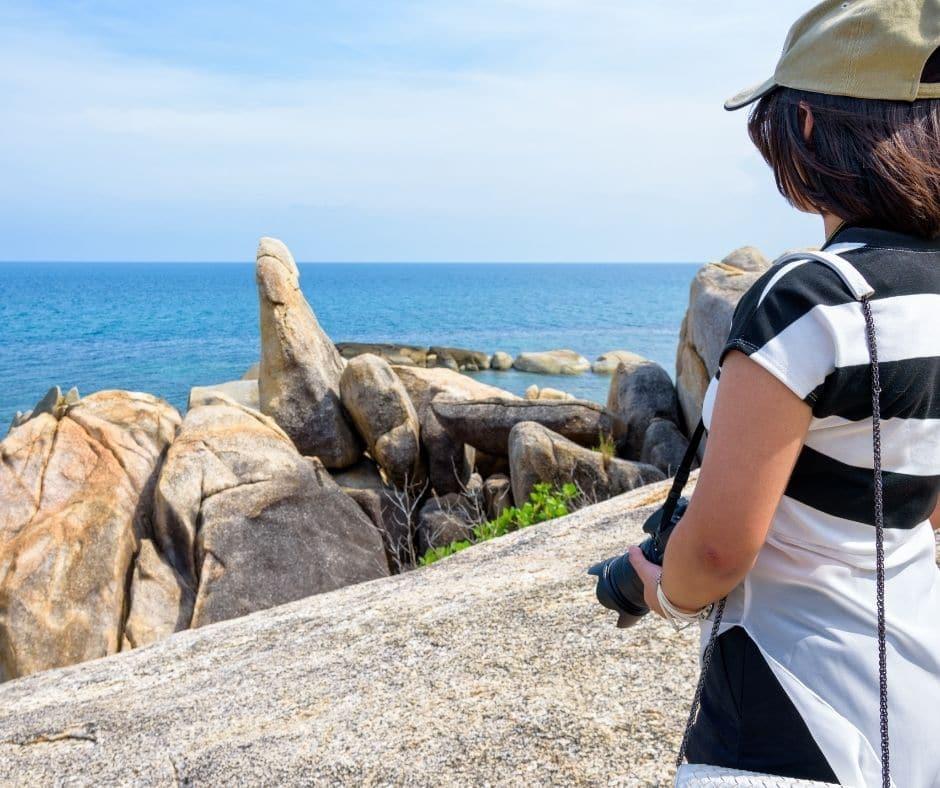 Tourist on viewpoint at Koh Samui