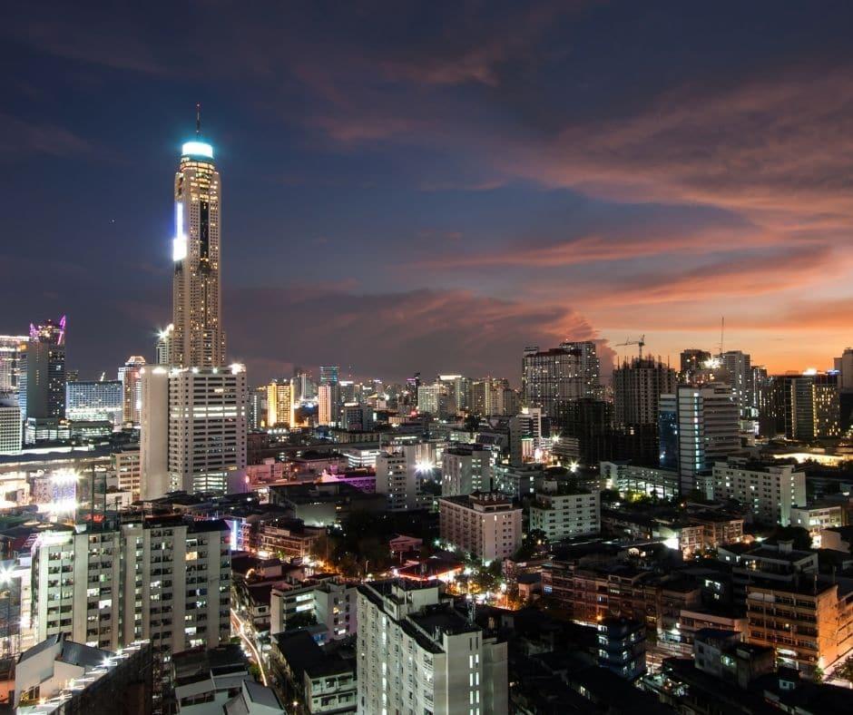 high view image of Bangkok